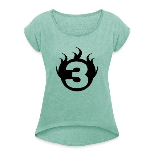shoulder logoc - T-shirt à manches retroussées Femme
