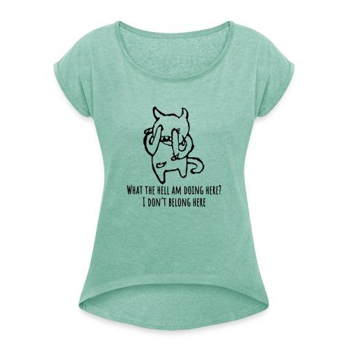 headfont - Frauen T-Shirt mit gerollten Ärmeln