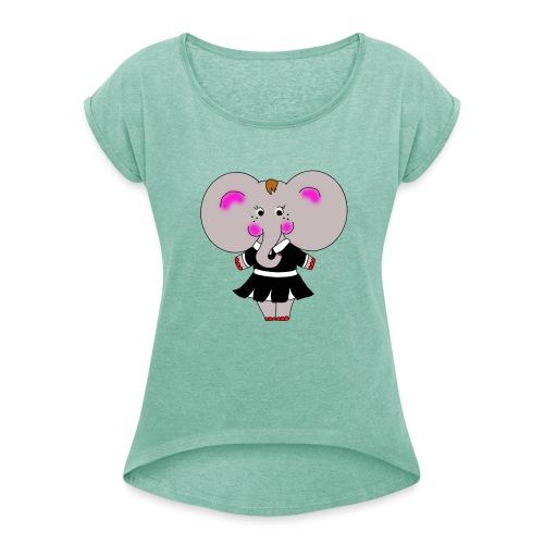 Elephantine - T-shirt à manches retroussées Femme
