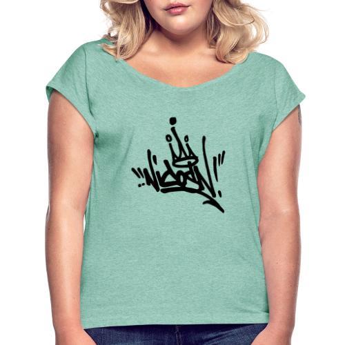 2 - Frauen T-Shirt mit gerollten Ärmeln