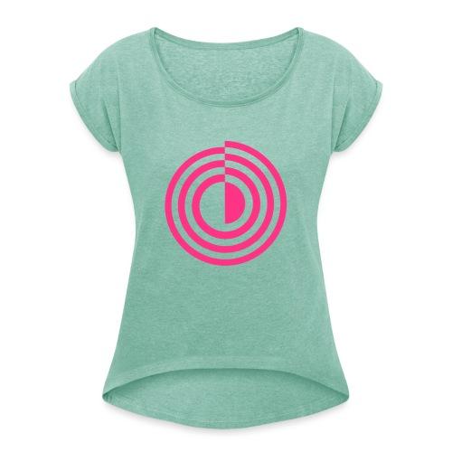 Simple Portal - Frauen T-Shirt mit gerollten Ärmeln