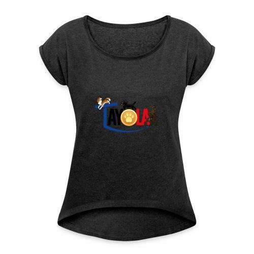 TAYOLA logo 2019 HD - T-shirt à manches retroussées Femme