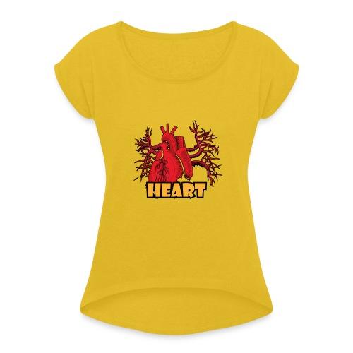 HEART - Maglietta da donna con risvolti