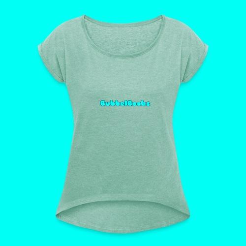 BubbelBoobs Trui - Vrouwen T-shirt met opgerolde mouwen