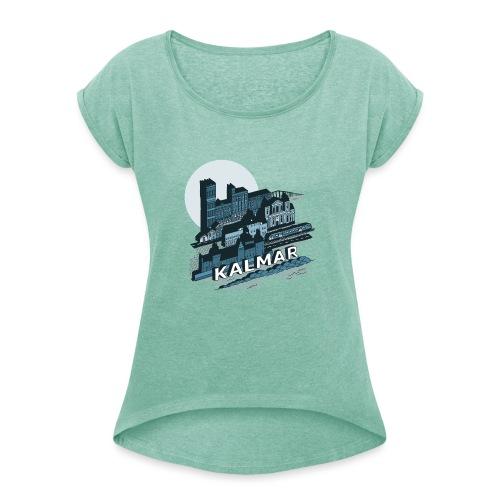 Kalmar - T-shirt med upprullade ärmar dam