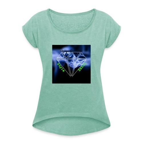 StyleSkilldia - Frauen T-Shirt mit gerollten Ärmeln