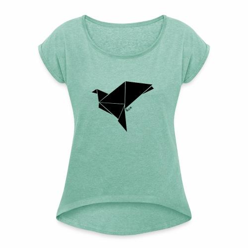 Origami - T-shirt à manches retroussées Femme