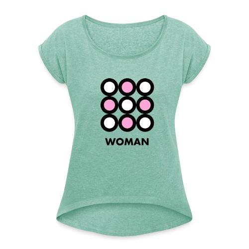Woman - Maglietta da donna con risvolti