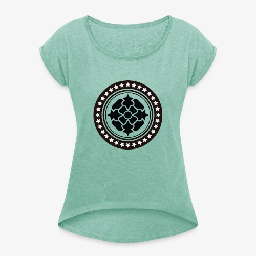 Tribal 1 - Women's T-Shirt with rolled up sleeves