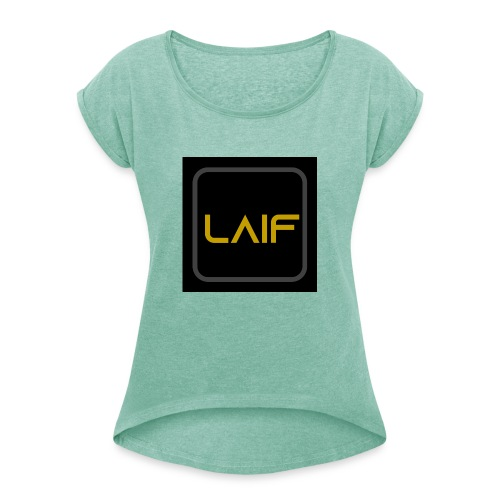 laif.com - Women's T-Shirt with rolled up sleeves