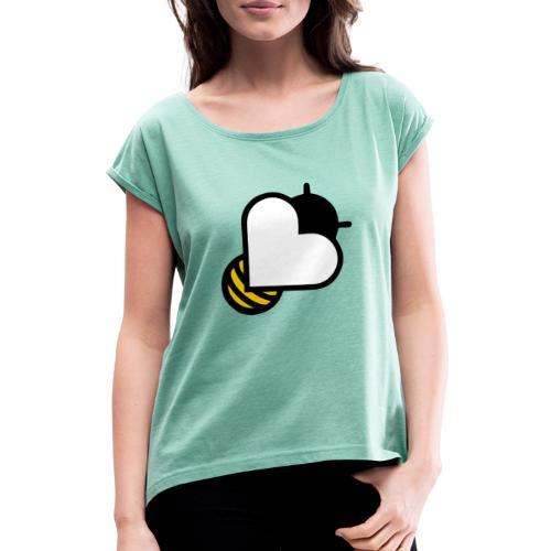 Beeducation merchandise bee - Vrouwen T-shirt met opgerolde mouwen