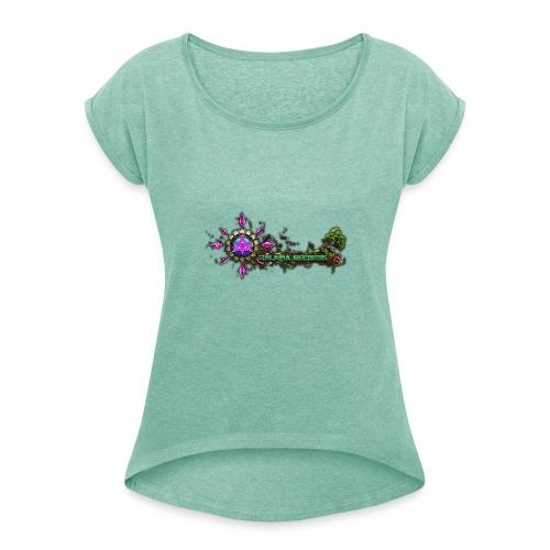 Galama Records Logo 3d - Frauen T-Shirt mit gerollten Ärmeln