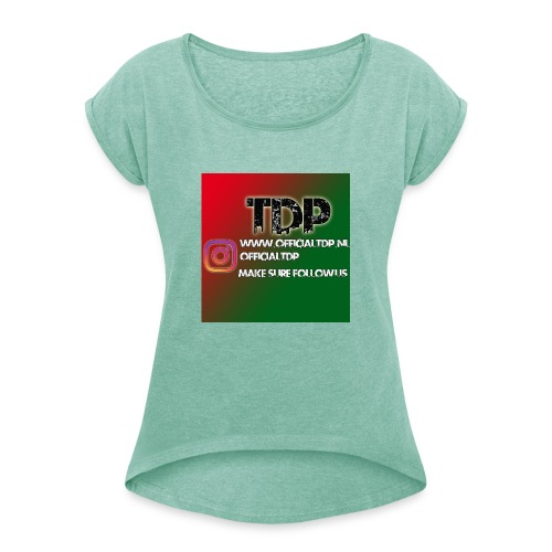 IMG 20180829 WA0003 - Vrouwen T-shirt met opgerolde mouwen