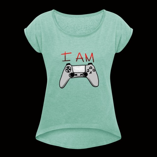 yo soy un gamer - Camiseta con manga enrollada mujer