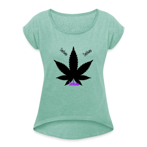 DaniHuana - Frauen T-Shirt mit gerollten Ärmeln