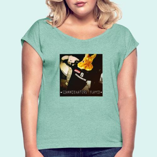 flappie - Vrouwen T-shirt met opgerolde mouwen
