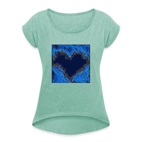 Black hart - Maglietta da donna con risvolti