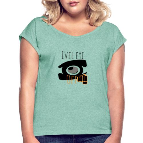 Logopit 1556275595521 - T-shirt à manches retroussées Femme