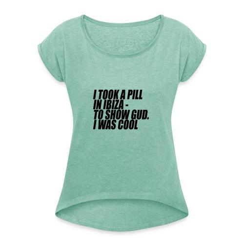 Gudcool trans - Frauen T-Shirt mit gerollten Ärmeln