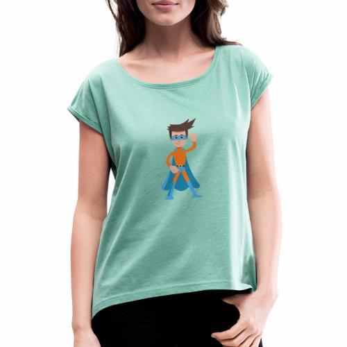 TCR Man - Frauen T-Shirt mit gerollten Ärmeln