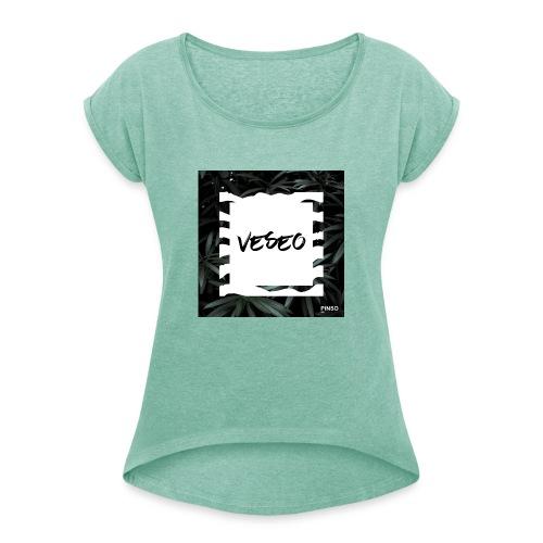 Veseo - T-shirt à manches retroussées Femme