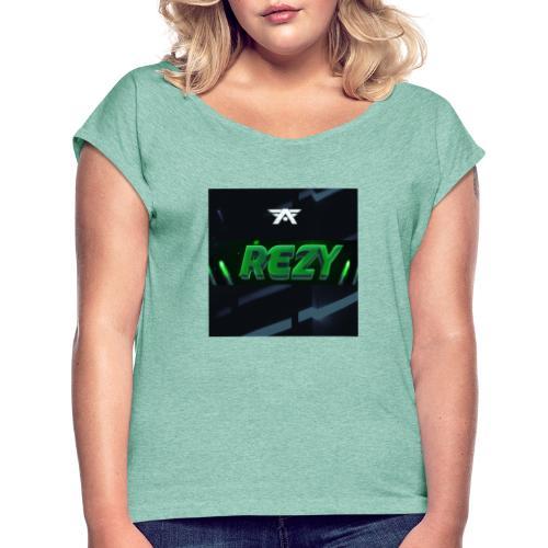 Rezy Yt kanal - Frauen T-Shirt mit gerollten Ärmeln
