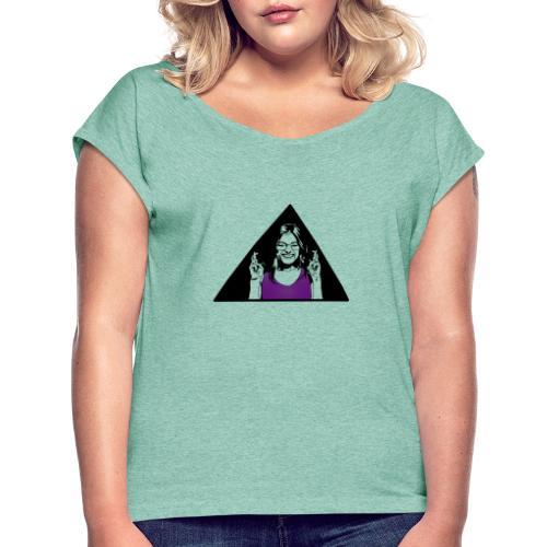 fille - T-shirt à manches retroussées Femme