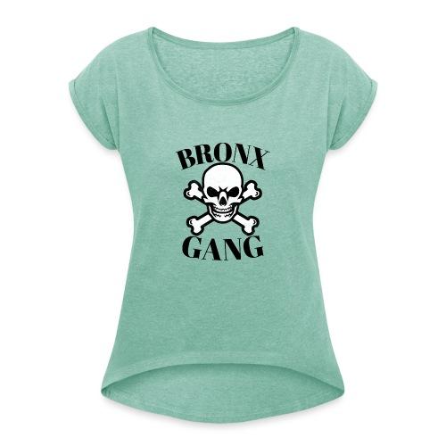 tête de mort gang - T-shirt à manches retroussées Femme