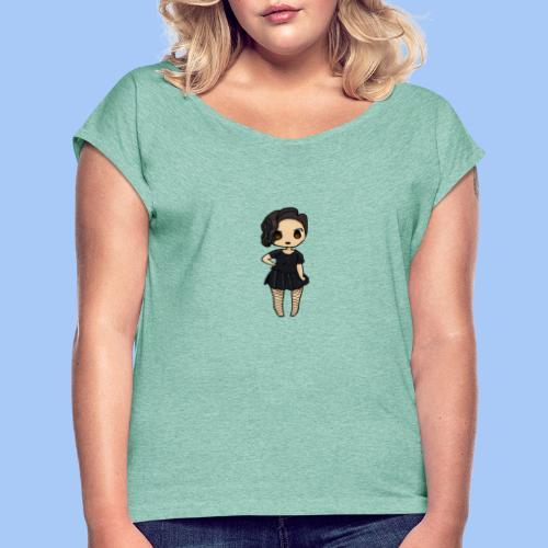 gotic waifu - Camiseta con manga enrollada mujer