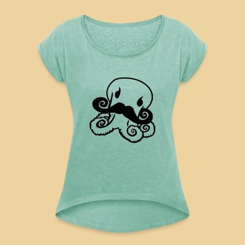 Gentle Octo - Frauen T-Shirt mit gerollten Ärmeln