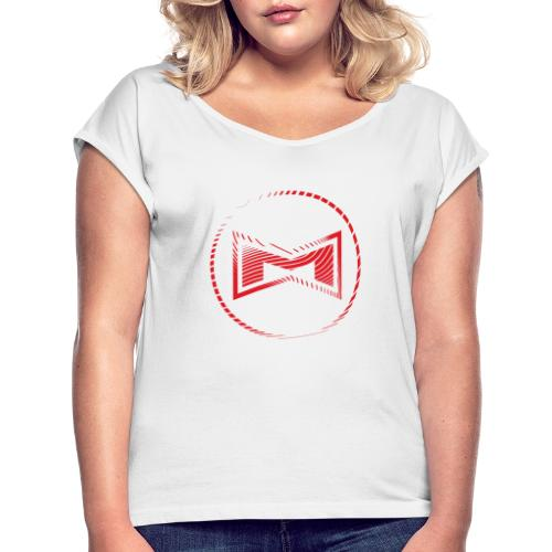 M Wear - Mean Machine Red Only - Women's T-Shirt with rolled up sleeves