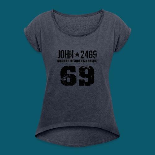 john 2469 numero trasp per spread nero PNG - Maglietta da donna con risvolti