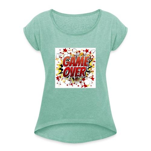 42029218 game over co mic la expresio n de dibujos - Camiseta con manga enrollada mujer