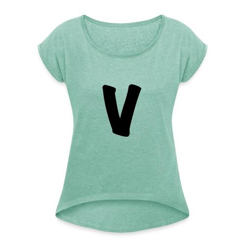 VinOnline shirt - Vrouwen T-shirt met opgerolde mouwen