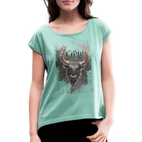 taurus - Frauen T-Shirt mit gerollten Ärmeln