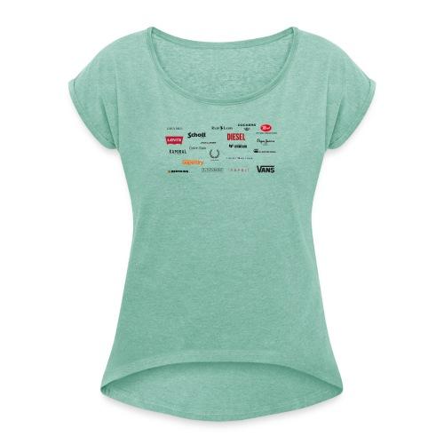 MELTINGPOT - T-shirt à manches retroussées Femme