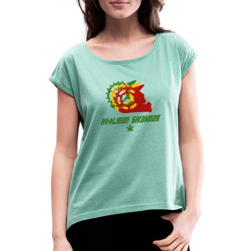 420 Inverted - Frauen T-Shirt mit gerollten Ärmeln