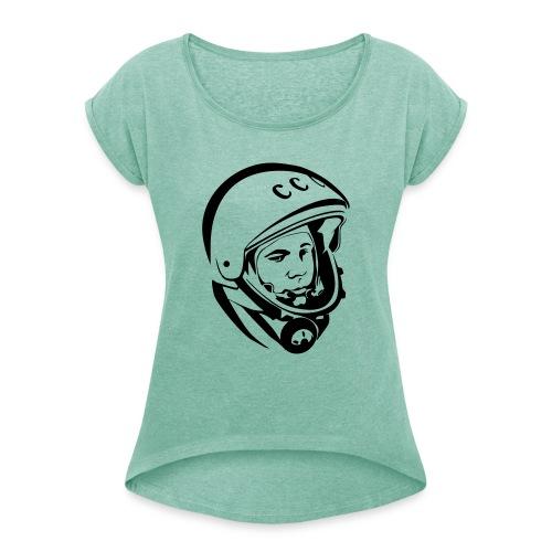 YuriG. - Frauen T-Shirt mit gerollten Ärmeln