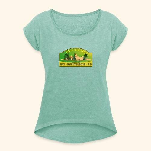 BalkanMotorWorks - Frauen T-Shirt mit gerollten Ärmeln