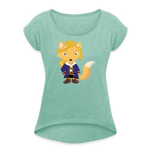 Renard Guybrush - T-shirt à manches retroussées Femme
