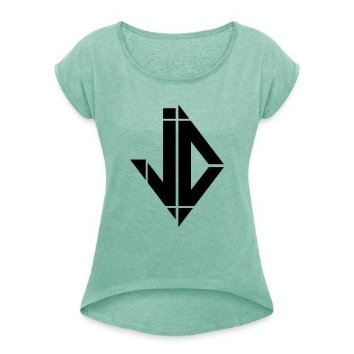 JayD - Frauen T-Shirt mit gerollten Ärmeln