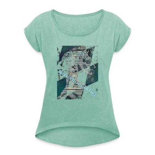 bavarian viking - Frauen T-Shirt mit gerollten Ärmeln