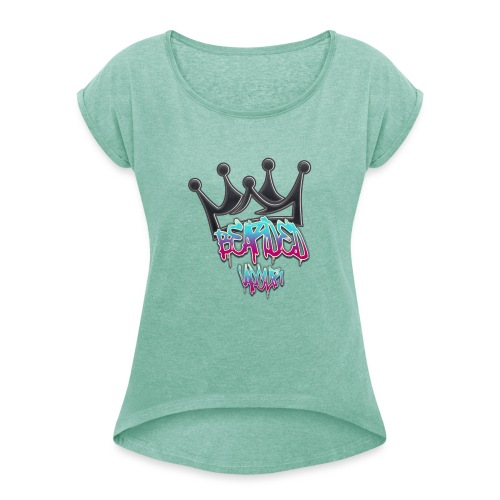 master of my own destiny - Women's T-Shirt with rolled up sleeves