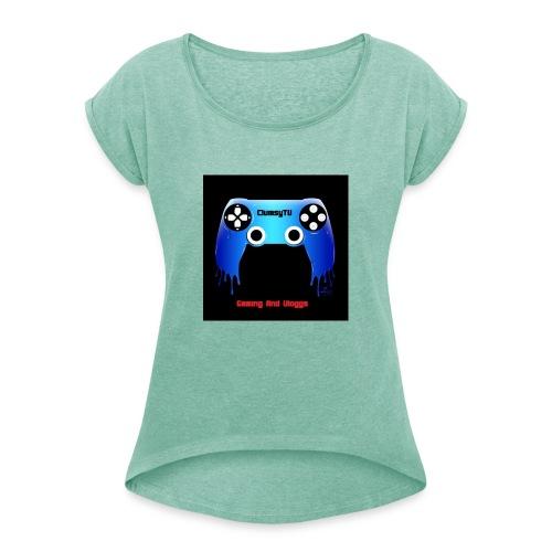 Clumsy TV - T-shirt med upprullade ärmar dam