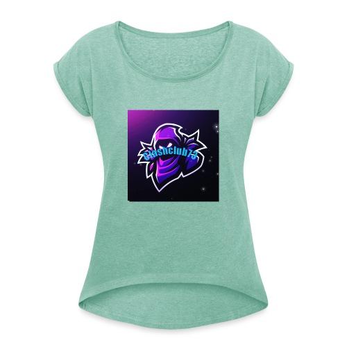 t shirt clashclub73 - T-shirt à manches retroussées Femme