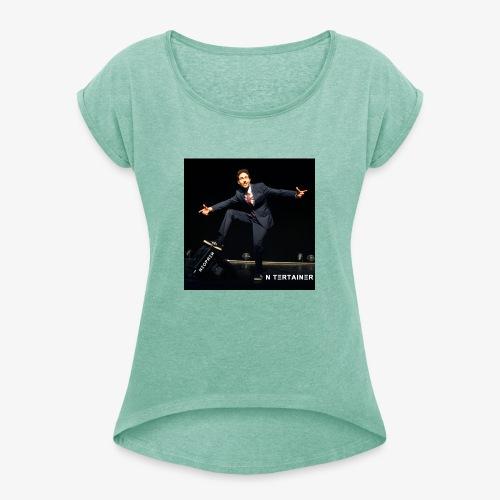 NEOPREN ~ N Tertainer ~ album cover - Frauen T-Shirt mit gerollten Ärmeln