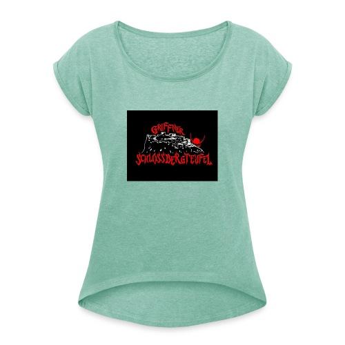 D1478994 A8BA 414A 83EF 3E0D58C7AEEA - Frauen T-Shirt mit gerollten Ärmeln
