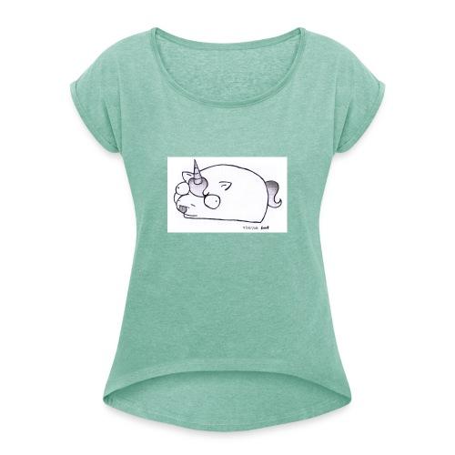 Potatocorn - Maglietta da donna con risvolti