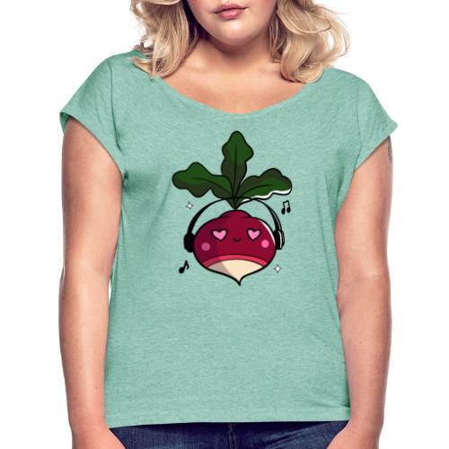 Dikke Bietn - Vrouwen T-shirt met opgerolde mouwen