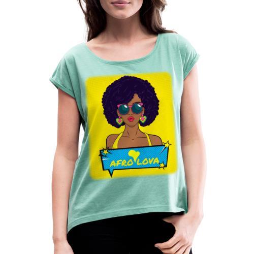 Pop Lady Afro - T-shirt à manches retroussées Femme